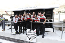 ART Grand prix celebrate Esteban Ocon, ART Grand Prix winning the championship