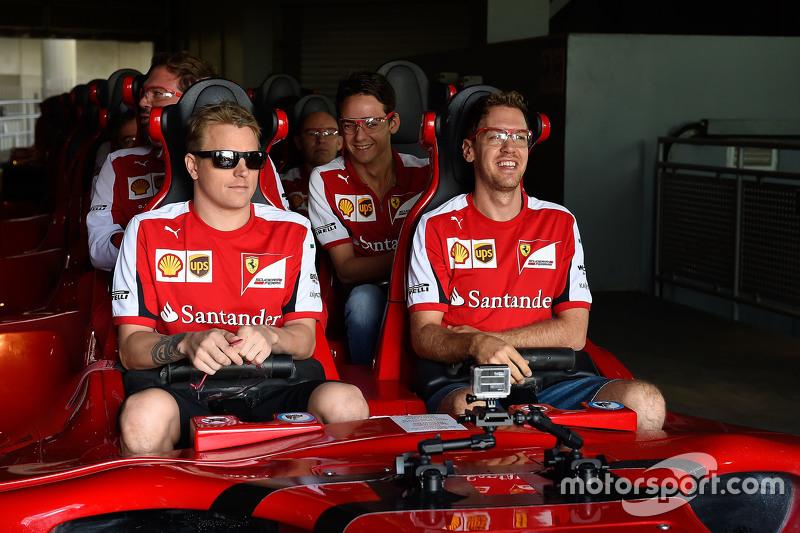Kimi Raikkonen en Sebastian Vettel, Ferrari