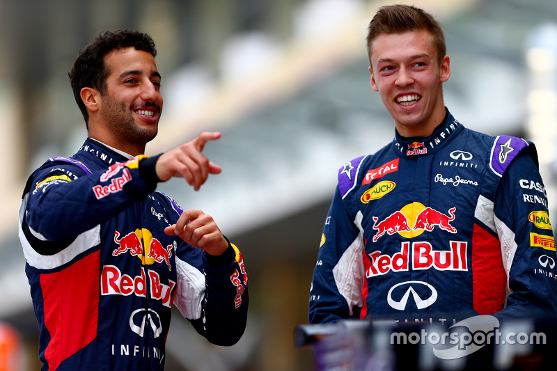Daniel Ricciardo und Daniil Kyvat, Red Bull Racing