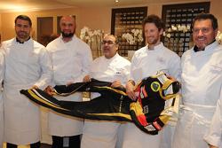 Tous les chefs réunis autour de Romain Grosjean