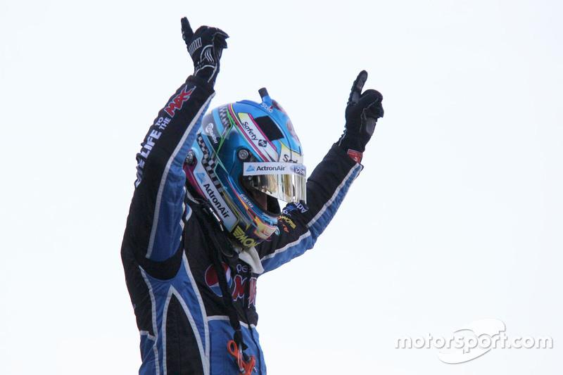 2015 V8 Supercars Champion Mark Winterbottom, Prodrive Racing Australia Ford celebrates in parc ferme