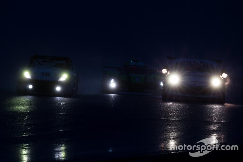 Rainy night race action