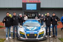 1. #45 Flying Lizard Motorsports, Audi R8 LMS: Darren Law, Tomonobu Fujii, Johannes van Overbeek, Guy Cosmo