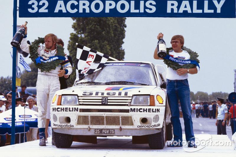 冠军蒂莫·萨洛宁、塞波·哈里扬内,标致205 T16