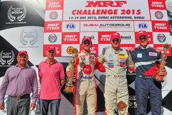 Podium: Winner Alessio Picariello, second place Pietro Fittipaldi, third place Nikita Troitskiy