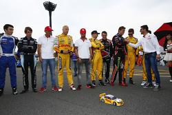 Tom Coronel, ROAL Motorsport; Tiago Monteiro, Honda Racing Team JAS; Rob Huff, Lada Sport Rosneft; Tom Chilton, ROAL Motorsport und Jose Maria Lopez, Citroën World Touring Car Team