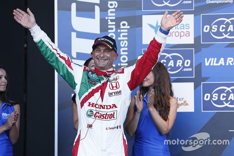 Podium: third place Gabriele Tarquini, Honda Racing Team JAS