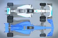 Comparación auto de F1 2017 con los actuales autos de 2015
