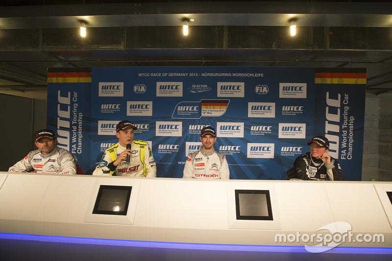 Press conference: Sébastien Loeb, Citroën C-Elysee WTCC, Citroën World Touring Car team, Hugo Valent