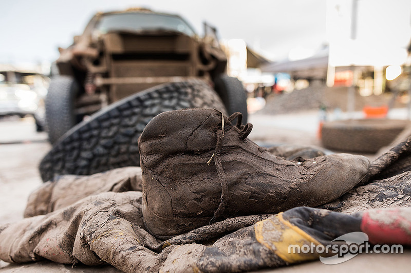 7. Muddy racing shoes