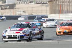 #40 Lechner Racing Middle East Porsche 991 Cup: Saeed Al Mehairi, Bashar Mardini, Sven Müller, Hasher Al Maktoum, Jaap van Lagen