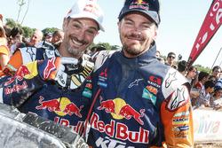 Jordi Viladoms und 1. in der Motorrad Kategorie, Toby Price