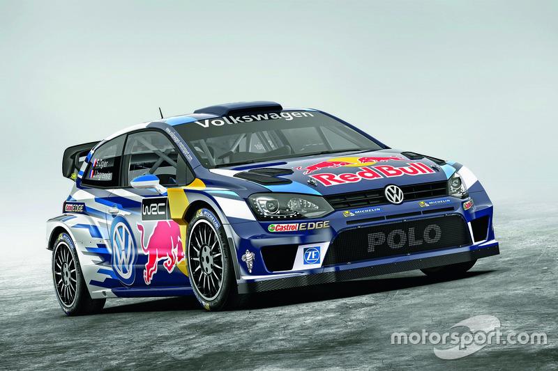 Farbdesign von Sébastien Ogier und Julien Ingrassia, Volkswagen Polo WRC, Volkswagen Motorsport