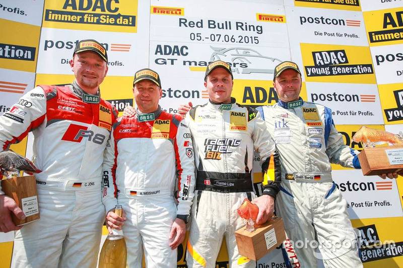 #3 C. Abt Racing Audi R8 LMS ultra: Andreas Weishaupt, Christer Jöns and #13 RWT Racing Team Corvett