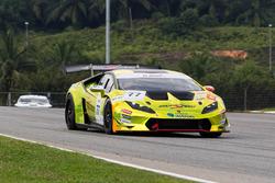 #77 Team Starspeed Racing, Lamborghini Huracan LP620-2 Super Trofeo: Yoon Sanghwi Rick, Wong Chong Yau Runne