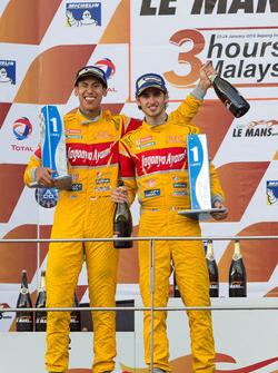 LMP2 podium: winners Sean Gelael, Antonio Giovinazzi, Jagonya Ayam with Eurasia