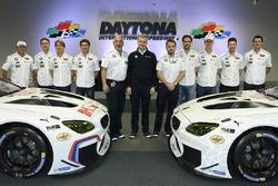 Jens Marquardt, BMW Motorsport Director, Augusto Farfus, Dirk Werner, Bruno Spengler, Bill Auberlen,