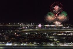 Феєрверк над Daytona International Speedway