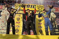 Pro Stock winner Greg Anderson, Funny Car winner Ron Capps, Top Fuel winner Steve Torrence