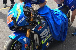 Accidente de  Maverick Viñales, Team Suzuki MotoGP