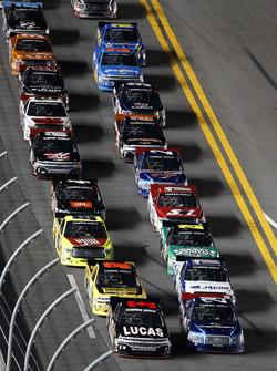 Restart: Bobby Gerhart, Chevrolet leads