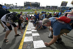 Race fans on track
