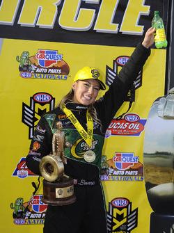 Top Fuel ganador Leah Pritchett