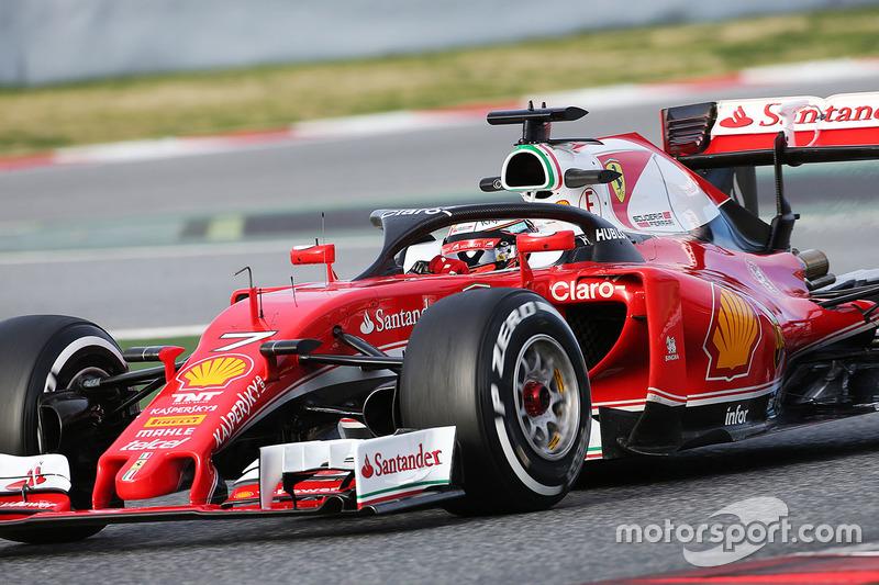 Kimi Raikkonen, Ferrari SF16-H, con el Halo 1