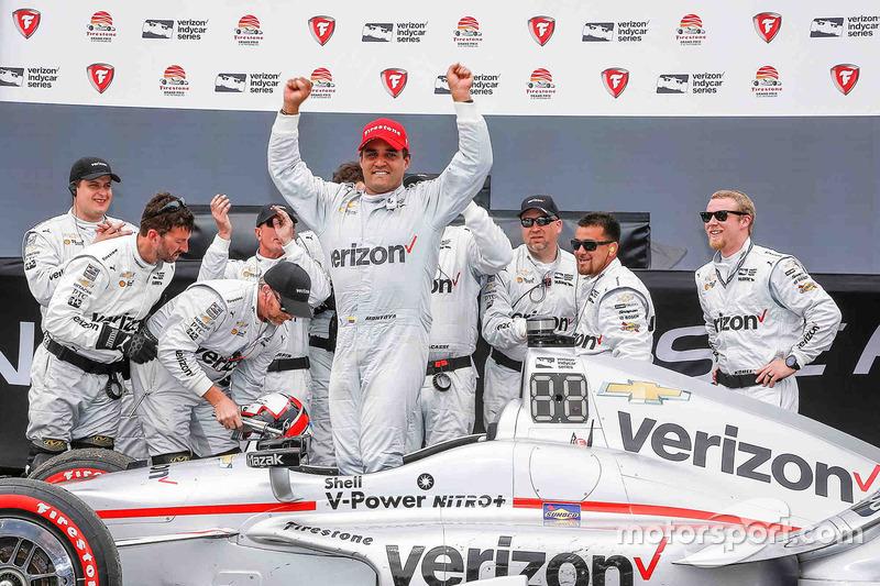 Ganador de la carrera Juan Pablo Montoya, Team Penske Chevrolet