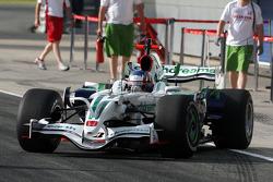 Alexander Wurz, Test Driver, Honda Racing F1 Team, on slick tyres