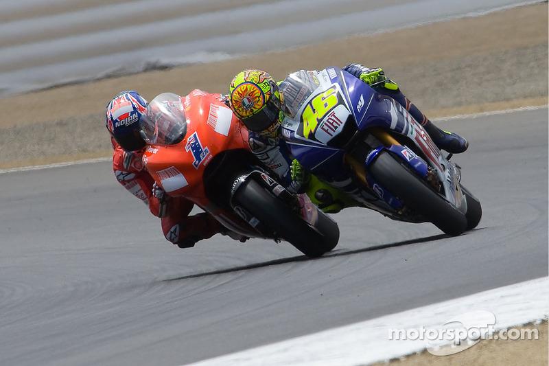 Casey Stoner et Valentino Rossi