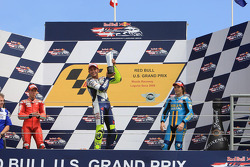 Podium: race winner Valentino Rossi, second place Casey Stoner, third place Chris Vermeulen