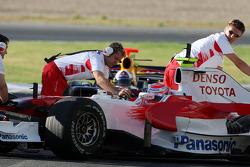Kamui Kobayashi, Test Driver, Toyota F1 Team, David Coulthard, Red Bull Racing