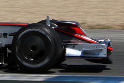 Pedro de la Rosa, Test Driver, McLaren Mercedes, MP4-23, with new nose wings / antler wings