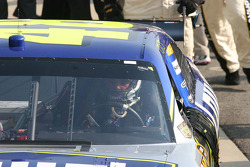 Race winner Jimmie Johnson enters victory circle