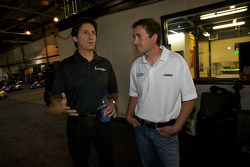Drivers and media go-kart event: Ron Fellows and Scott Wimmer