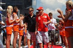 Sebastian Vettel, Scuderia Toro Rosso and Kimi Raikkonen, Scuderia Ferrari