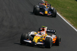 Nelson A. Piquet, Renault F1 Team, R28 and David Coulthard, Red Bull Racing, RB4