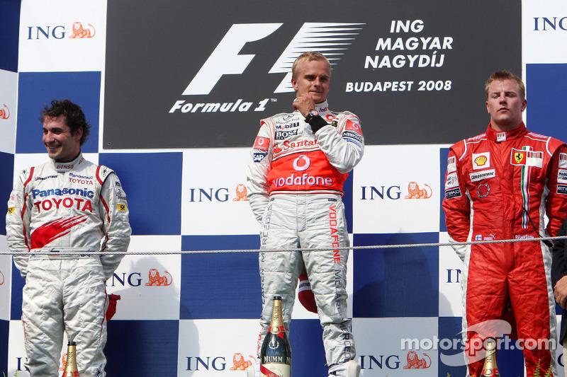 Подіум: 1. Хейккі Ковалайнен, McLaren-Mercedes. 2. Тімо Глок, Toyota. 3. Кімі Райкконен, Ferrari