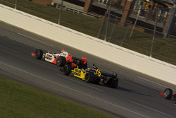 Helio Castroneves and Sarah Fisher