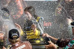 Victory lane: champagne celebration for the charming Miss Sprint Cup