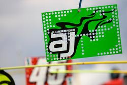 Pit sign of A.J. Allmendinger