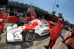 Team Penske team members get ready for the race