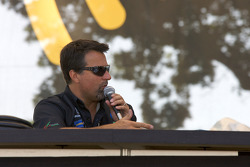 Michael Andretti at the XM Satellite radio stage