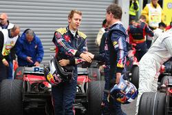Sebastian Vettel and David Coulthard