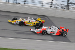 Ryan Briscoe and Tony Kanaan run together
