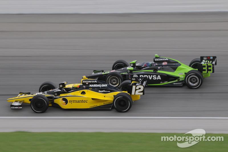 Ernesto VIso and Tomas Scheckter run together