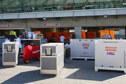 Equipo para el equipo Repsol Honda de 2006 campeón del mundo Nicky Hayden y Dani Pedrosa