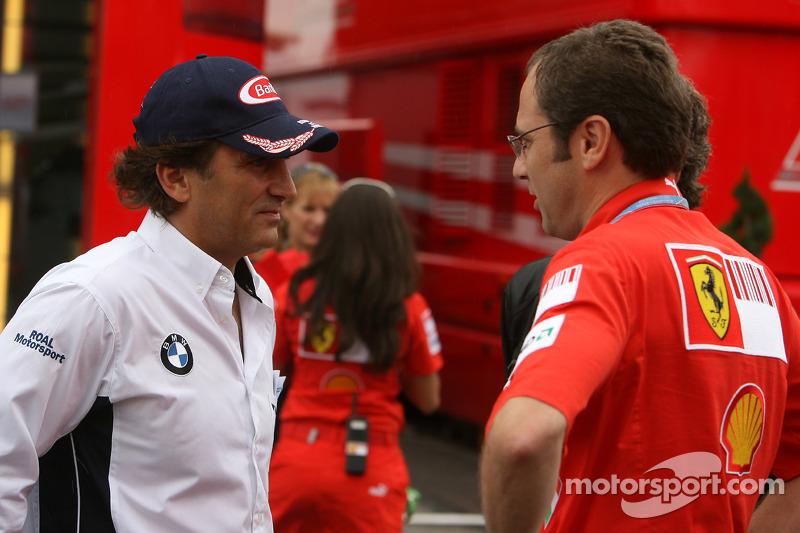 Alex Zanardi, BMW Team Italy-Spain, WTCC with Stefano Domenicali, Scuderia Ferrari, Sporting Director