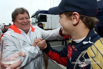 Norbert Haug and Sebastian Vettel
